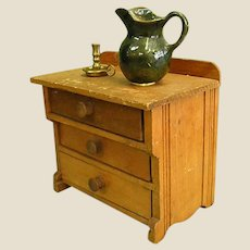 Sweet Handmade Wooden Doll Chest or Washstand