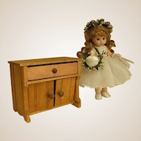 Adorable Homemade Doll Washstand