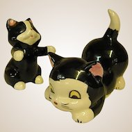 Adorable Black and White Kitty Figures