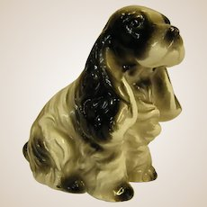 Precious Old Miniature Figurine of Cocker Spaniel