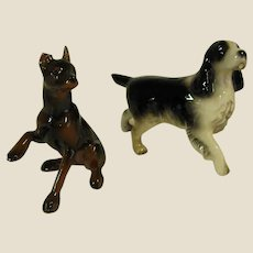 Darling Pair of Miniature Porcelain Dogs
