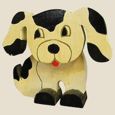 Handmade Wooden Puppy Dog