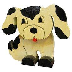 Handmade Wooden Puppy Dog