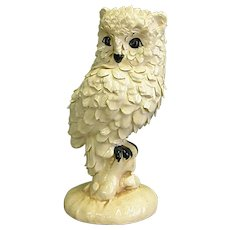 Fascinating Owl Ceramic Sculpture