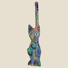 Charming Mexican Folk Art Cat