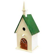 Too Cute Folk Art Wood Bird House