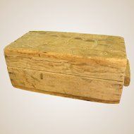 Fabulous Old Handmade Wooden Box with Ranch Brand