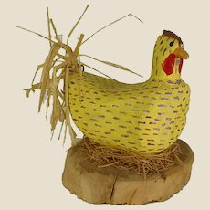Navajo Folk Art Chicken by Lawrence Herbert