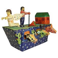 Charming Folk Art Noah's Ark by Vicente Hernandez Vasquez