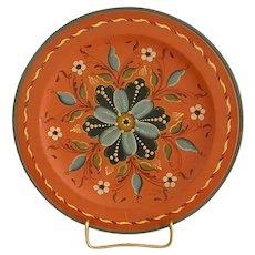 Beautiful Signed Rosemaling Wooden Plate