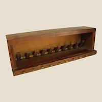 Interesting Old Wooden Folk Art Peg Game