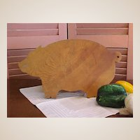 Cute Rustic Pig Cutting Board