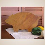 Cute Rustic Pig Cutting Board