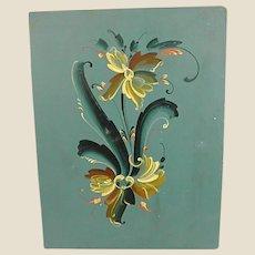 Beautiful Rosemaling on Artist Board