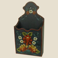 Beautiful Signed Rosemaled Wood Wall Box