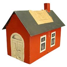 Adorable Old Metal School House Donation Box