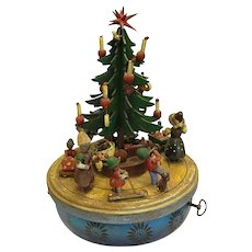 Charming Vintage Steinbach Musical Christmas Tree Merry-Go-Round