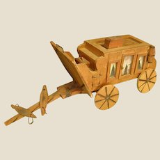 Wonderful Handmade Wooden Stagecoach
