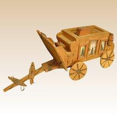 Wonderful Handmade Wooden Stagecoach