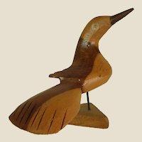 Sweet Hand Carved Wooden Bird