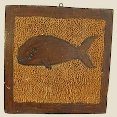Rustic Boy Scout Punch Art/Carved Whale Folk Art