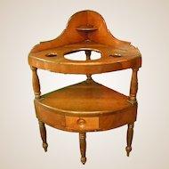 Late 18th Early 19th Century Handmade Corner Washstand