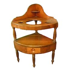 Late 18th Early 19th Century Handmade Corner Washstand
