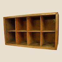 Charming Primitive Wooden Handmade Divided Shelf