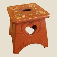 Well Loved Rosemaling Stool