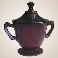 Anchor Hocking Royal Ruby Sugar/Condiment Bowl with Lid