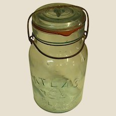 Vintage Atlas E-Z Seal Canning Jar