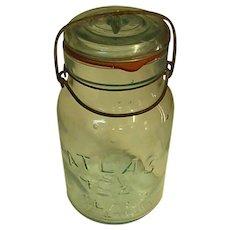 Vintage Atlas E-Z Seal Canning Jar