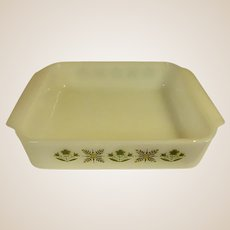 Anchor Hocking Fire King Meadow Green Square Baking Dish