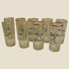 Mid Century Ned Smith Wild Duck Tumblers