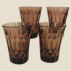 Set of Gorgeous Noritake Perspective 10 oz. Tumblers in Plum Color