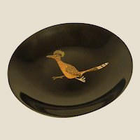 Vintage Mid-Century Couroc Bowl with Roadrunner Design