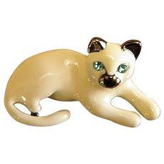 Adorable Anne Klein Siamese Cat Pin