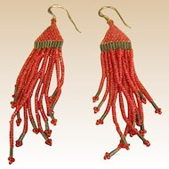 Native American Style Micro Beaded Dangle Earrings