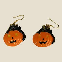 Fun Halloween Pumpkin Earrings