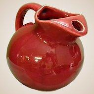 Cheery 1950s Ball Tilt Pottery Pitcher