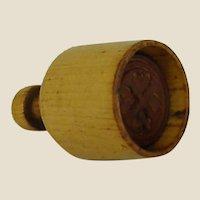 Old Wooden Butter Pat Stamp/Mold