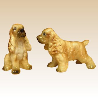 Adorable 1950s Enesco Cocker Spaniel Salt & Pepper Shakers