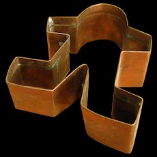 Solid Copper Gingerbread Man Cookie Cutter