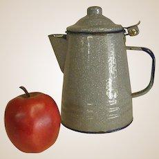 Nice Light Blue Enamel Coffee Pot