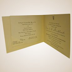 1954 Engraved Invitation to the Launching of USS Nautilus Nuclear Submarine