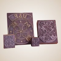 Vintage Printer's Type Blocks