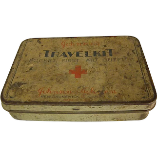 Well Worn Johnson and Johnson First Aid Kit