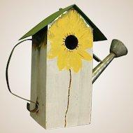 Galvanized Metal Watering Can Birdhouse