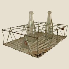 Old Galvanized Wire Bottle Carrier