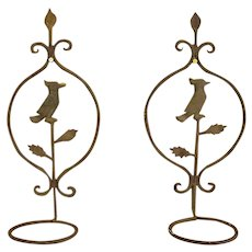 Old Wrought Iron Hanging Plant Holders